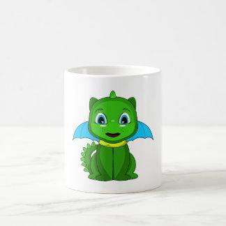 Dragón verde y azul de Chibi Tazas De Café
