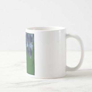 Dragón verde y azul fresco taza de café