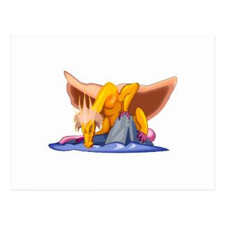 Dragón viejo triste de la fantasía postales