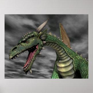 Dragón vigilante póster