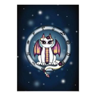 "Dragon Virgo Zodiac invitation 5"" X 7"" Invitation Card"