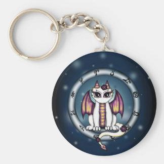 Dragon Virgo Zodiac Keychain