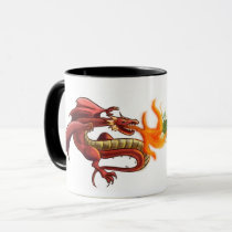 Dragon vs cancer mug