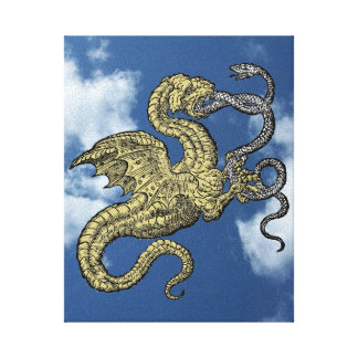 Dragon vs. Snake Canvas Print