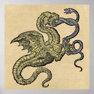 Dragon vs. Snake Poster