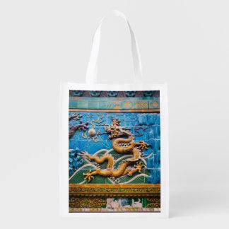 Dragon Wall Grocery Bag
