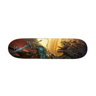 Dragon & warrior skateboard deck