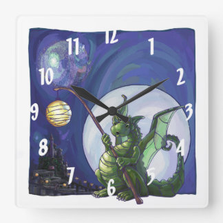 Dragon Watch Art Square Wall Clock