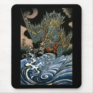 Dragon & Water Spirit Kuniyoshi Japanese Fine Art Mouse Pad