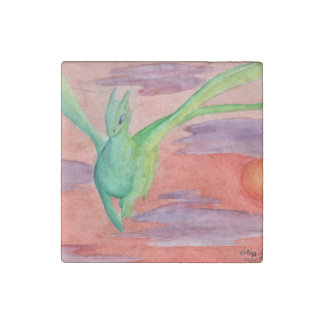 Dragon Watercolor magnet Stone Magnet