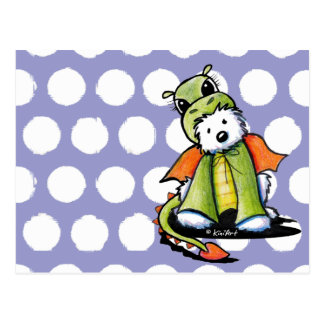 Dragon Westie Terrier Postcard