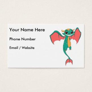 Dragon Wings, Cute Cartoon Business Card