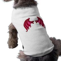 Dragon wings dog tshirt