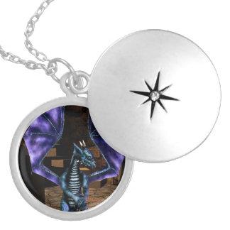 Dragon Wings Locket Necklace