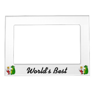 Dragon with Burnt Knight.png Magnetic Picture Frame