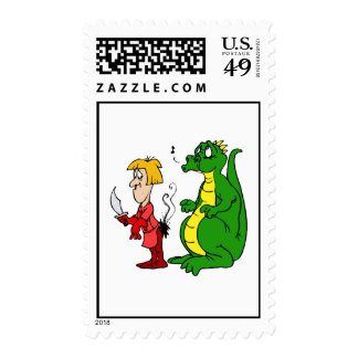 Dragon with Burnt Knight.png Postage