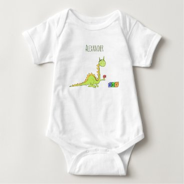Dragon with dice toys baby bodysuit
