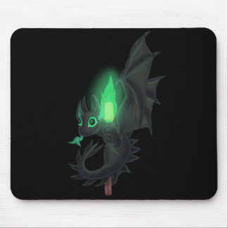 Dragon With Green Fire Mouse Pad