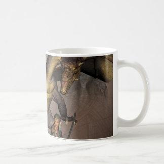 Dragon with his companion 1 classic white coffee mug