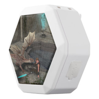 Dragon with his companion white boombot rex bluetooth speaker