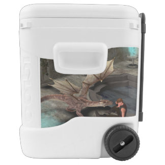 Dragon with his companion igloo roller cooler
