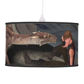 Dragon with his companion ceiling lamp