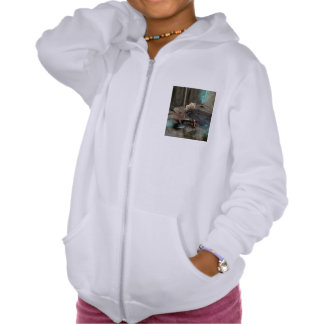 Dragon with his companion hooded pullover