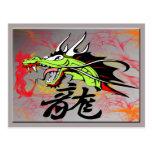 Dragon with Kanji Postcard