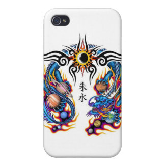 Dragon with Planets iPhone 4/4S Cases