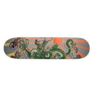 Dragon with Rising Sun 2 Skateboard Deck