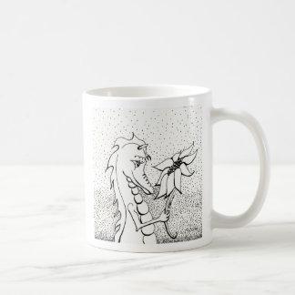 Dragon With Sunflower Mug