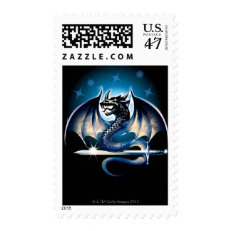 Dragon with sword postage