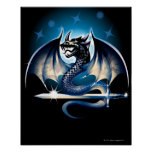 Dragon with sword poster