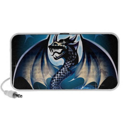 Dragon with sword travelling speaker