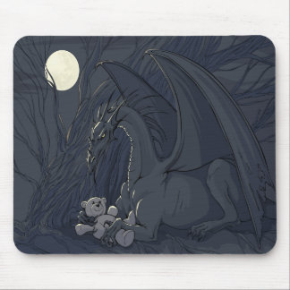Dragon With Teddy Bear Mouse Pad