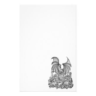 Dragon with Zombie Personalized Stationery