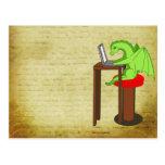 Dragon words postcard