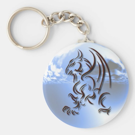 Dragon World Design Keychain