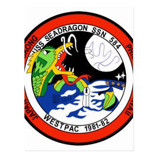 DRAGÓN WP 81 DEL MAR DE SSN-584C POSTALES