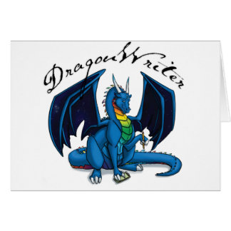 Dragon Writer Greeting Card
