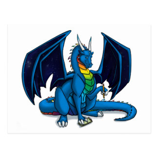 Dragon Writer Postcard