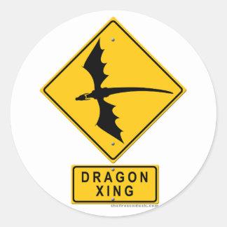 Dragon XING Classic Round Sticker