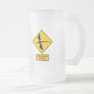 Dragon XING 16 Oz Frosted Glass Beer Mug
