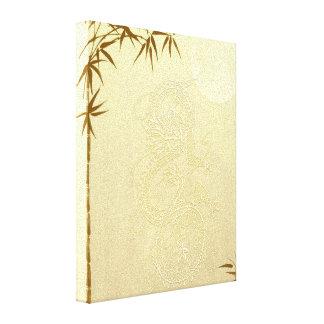 Dragón y bambú chinos impresión en lienzo estirada