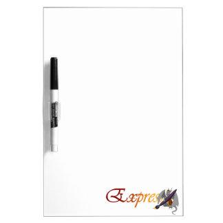 """Dragón y brocha Whiteboard de la """"expresión"""" Tablero Blanco"""