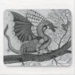 Dragón y búho Mousepad Alfombrilla De Ratón
