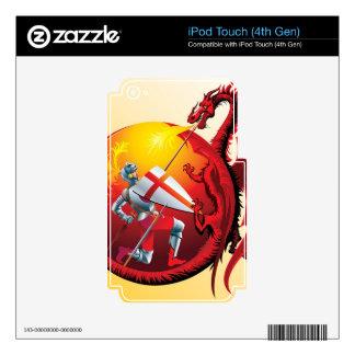 Dragón y caballero calcomanías para iPod touch 4G