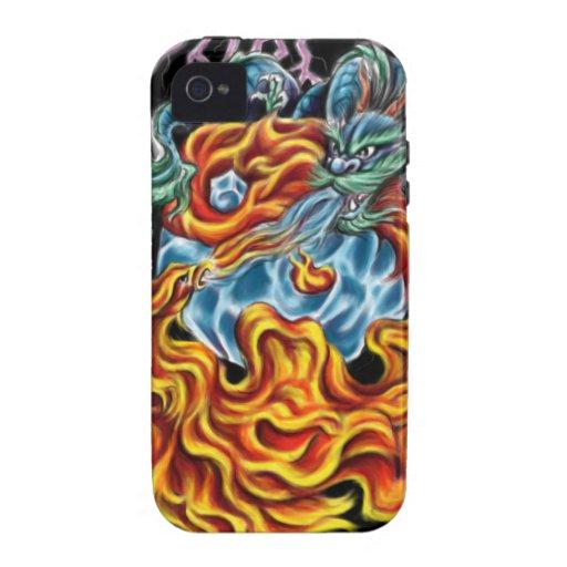 Dragón y caso de Phoenix IPhone 4 iPhone 4/4S Fundas