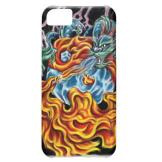 Dragón y caso de Phoenix IPhone 5 Funda Para iPhone 5C