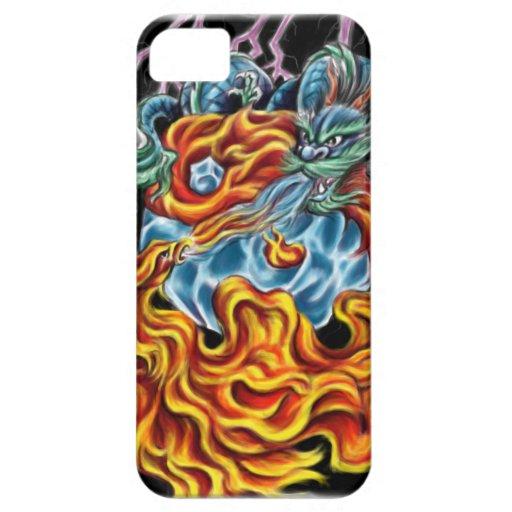 Dragón y caso de Phoenix IPhone 5 iPhone 5 Funda